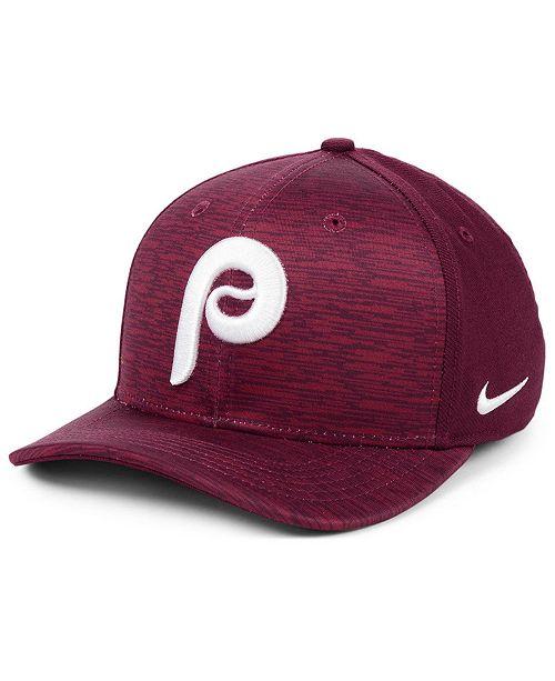 Nike Philadelphia Phillies Velocity Swooshflex Stretch Fitted Cap