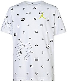 Jordan Big Boys 23-Print Cotton T-Shirt