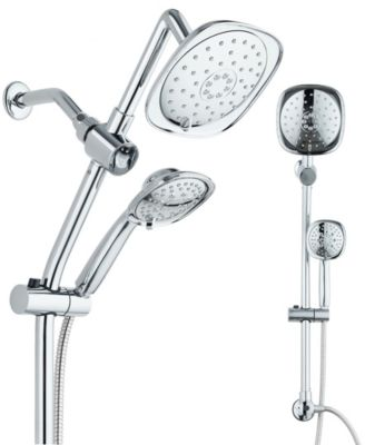 34-inch Drill-Free Slide Bar with 48-setting Shower Combo