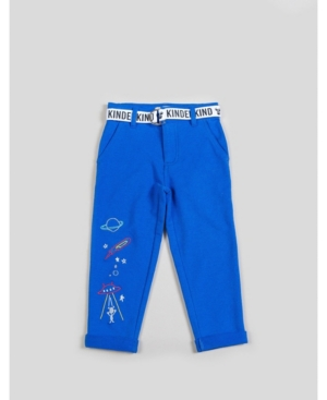 Kinderkind Big and Toddler Boy's Knit Pant with Grograin Belt