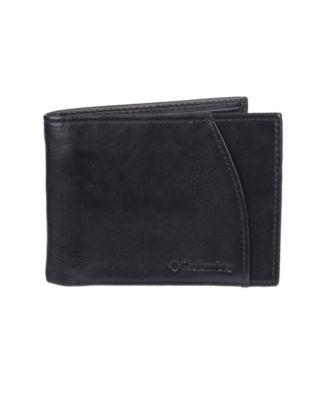 Columbia Men/'s Rfid Security Blocking Extra-capacity Slimfold Wallet Black
