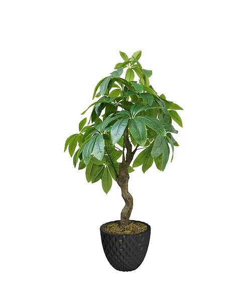 "Laura Ashley 33.6"" Pachira Aquat Real Touch, Indoor/Outdoor in Fiberstone Planter"