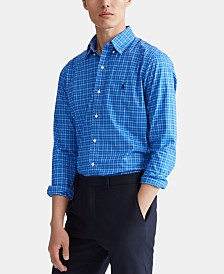 Polo Ralph Lauren Men's Natural Stretch Poplin Sport Shirt