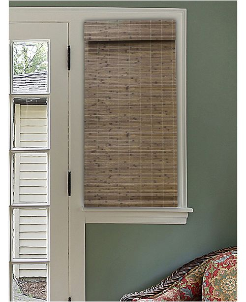 """RADIANCE Cordless Bamboo Dockside Privacy Weave Roman Shade, 46"""" x 64"""""""