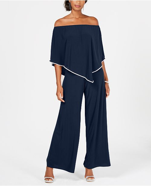 MSK Off-The-Shoulder Overlay Jumpsuit