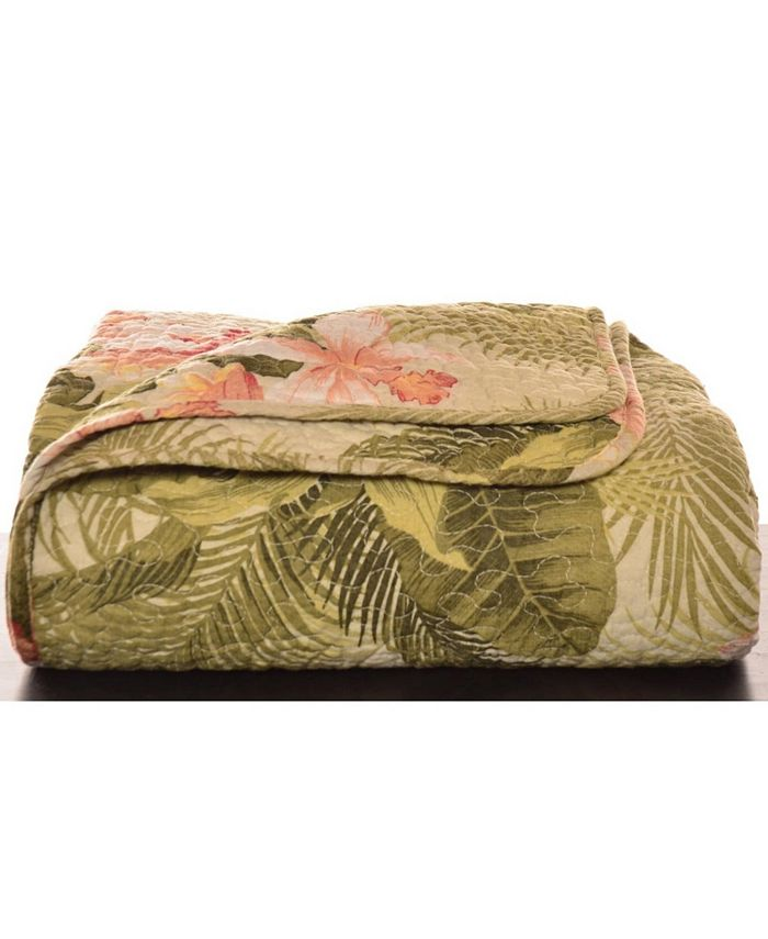 Tommy Bahama Home - Tropical Orchid Palm Green Throw