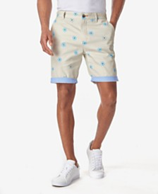 Tallia Men's Daisy Print Contrast Cuff Shorts