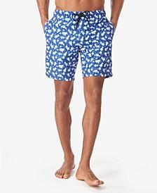 Men's Pineapple Floral Swim Trunks
