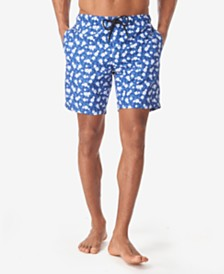 Tallia Men's Pineapple Floral Swim Trunks