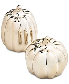 Martha Stewart Collection Pumpkin Salt & Pepper Shakers, Created for Macy's