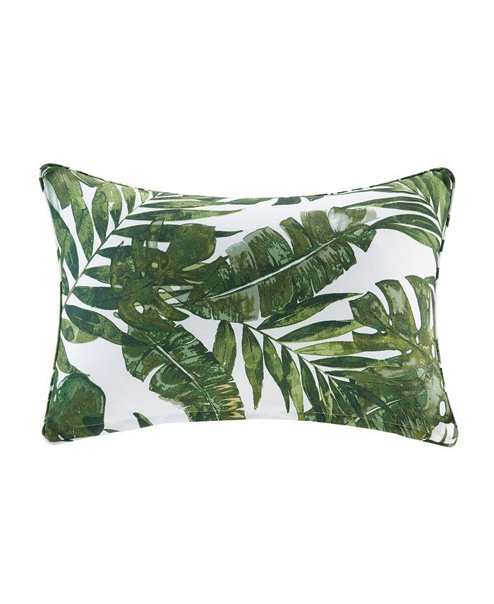 """Madison Park - Everett 14"""" x 20"""" Printed Palm 3M Scotch Gard Outdoor Oblong Pillow"""