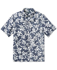 Men's On My Lanai Classic-Fit Floral-Print Linen Shirt