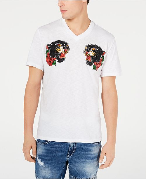 INC International Concepts INC Men's Beaded Panther T-Shirt, Created for Macy's