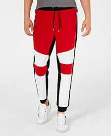 INC Men's Lauderdale Colorblocked Jogger Pants, Created for Macy's