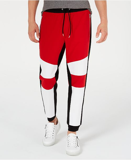 INC International Concepts INC Men's Lauderdale Colorblocked Jogger Pants, Created for Macy's