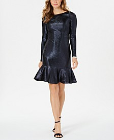 Metallic Flounce Dress