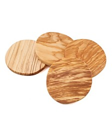 Thirstystone Set of 4 Olive Wood Coasters