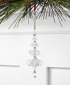 Holiday Lane Crystal Clear Glass Bead Ornament, Created for Macy's