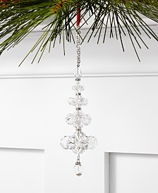 Holiday Lane Crystal Elegance Clear Glass Bead Ornament, Created For Macy's