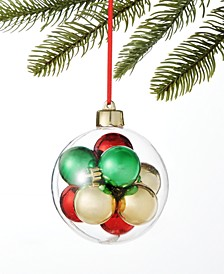 Christmas Cheer Set of 9 Shatterproof Mini Ball Ornaments in Plastic Openable Balls, Created for Macy's