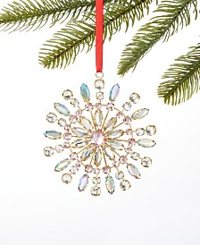 Holiday Lane Shimmer and Light Jewel Snowflake Ornament, Created for Macy's