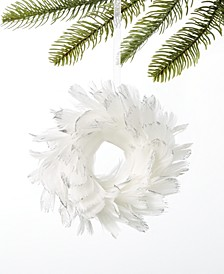 Shine Bright Feather Wreath Ornament, Created For Macy's