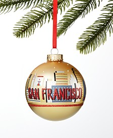 Holiday Lane San Francisco Gold Ball Ornament, Created For Macy's