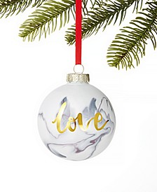 Shine Bright Marble Ball Ornament, Created For Macy's