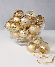 Shine Bright Set of 27 Shatterproof Gold Gift Ornaments, Created for Macy's