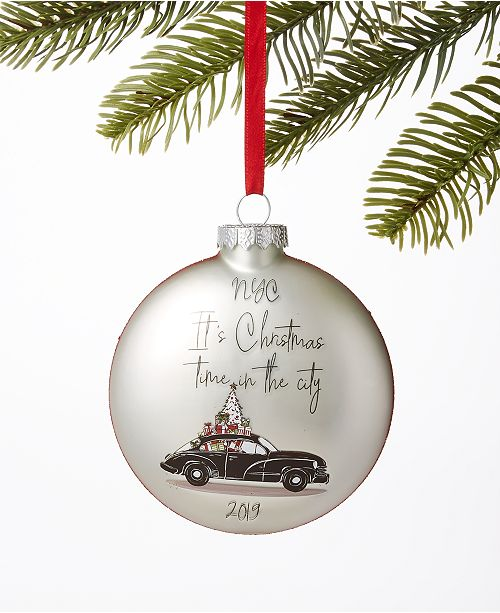 Christmas Lane Plant City 2020 Holiday Lane New York 2020 Glass Ornament, Created for Macy's