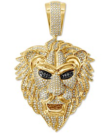 Diamond Lion Pendant (1-5/8 ct. t.w.) in 14k Gold-Plated Sterling Silver