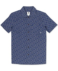 Men's Destination Regular-Fit Printed Poplin Shirt
