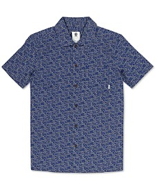 Element Men's Destination Regular-Fit Printed Poplin Shirt