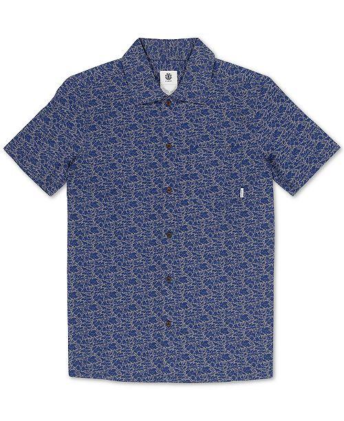 Element Men's Destination Regular-Fit Printed Poplin Shirt