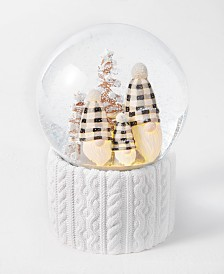 Holiday Lane Upstate Three Gnomes Snowglobe, Created for Macy's