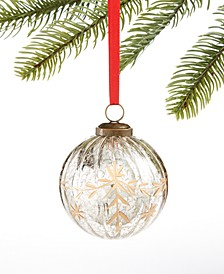 Birds & Boughs, l Gold Crackle Ball Ornament, Created for Macy's