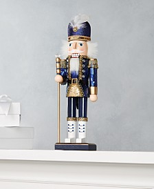 Holiday Lane Midnight Blue Blue Sequin and Glitter Nutcracker, Created for Macy's