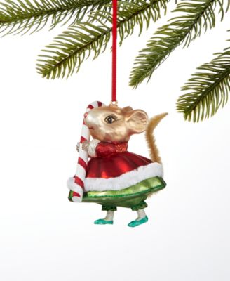 Sweet Tooth Mouse with Candy Cane Ornament, Created For Macy's