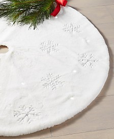 Holiday Lane Snowflake LED Tree Skirt, Created for Macy's