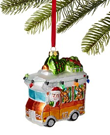 Holiday Lane Lodge Santa Driving RV Ornament, Created For Macy's