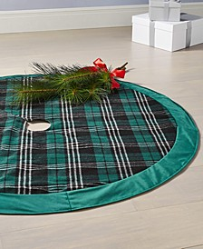 Green Plaid  Tree Skirt, Created for Macy's