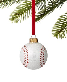 Sports Glitter Baseball Ornament, Created for Macy's