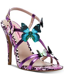 Betsey Johnson Vandi Butterfly Strappy Stiletto Sandals
