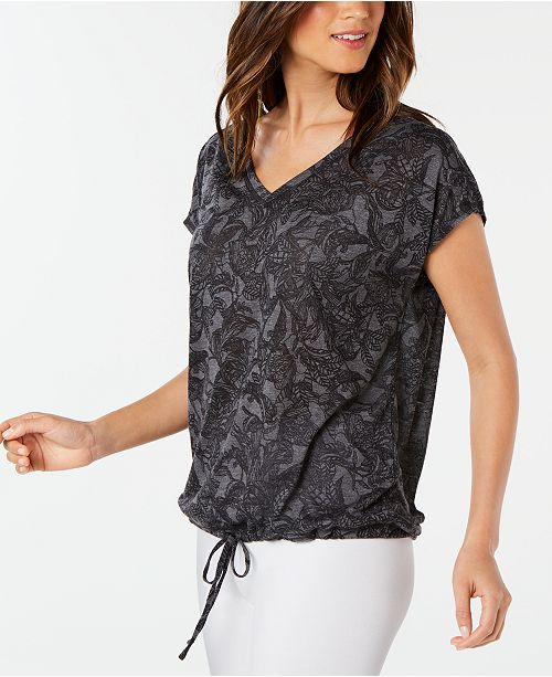 Ideology Printed Drawstring Top, Created for Macy's