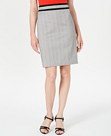 Petite Piped Pencil Skirt