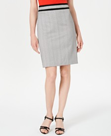 Calvin Klein Petite Piped Pencil Skirt