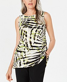Petite Sleeveless Printed Top