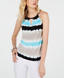 I.N.C. Tie-Dye Halter Top, Created for Macy's