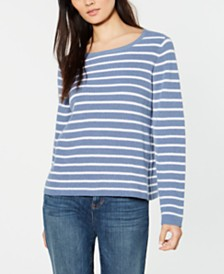 Eileen Fisher Organic Cotton Striped Sweater