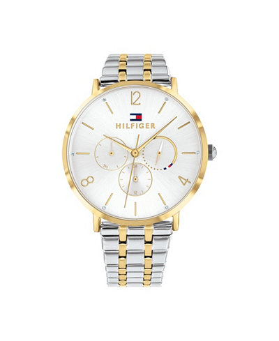 Tommy Hilfiger Womens Two-Tone Stainless Steel Bracelet Watch 40mm, Created for Macy's